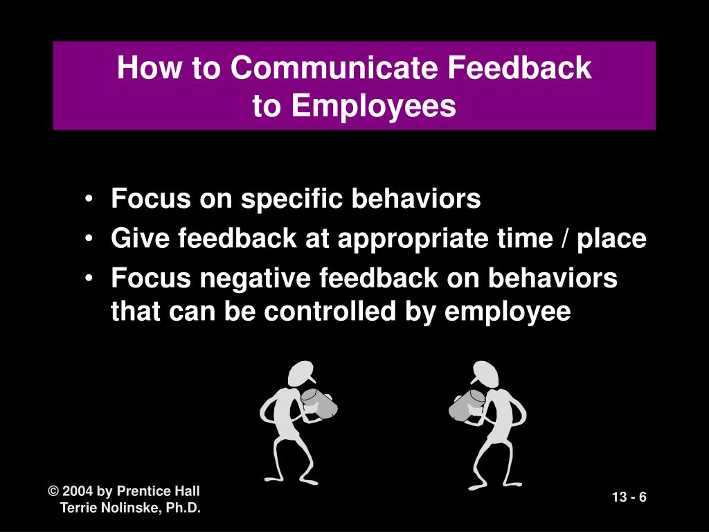 How to Communicate Feedback