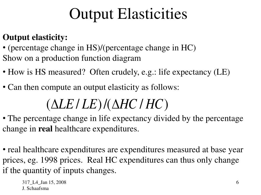 Output Elasticities