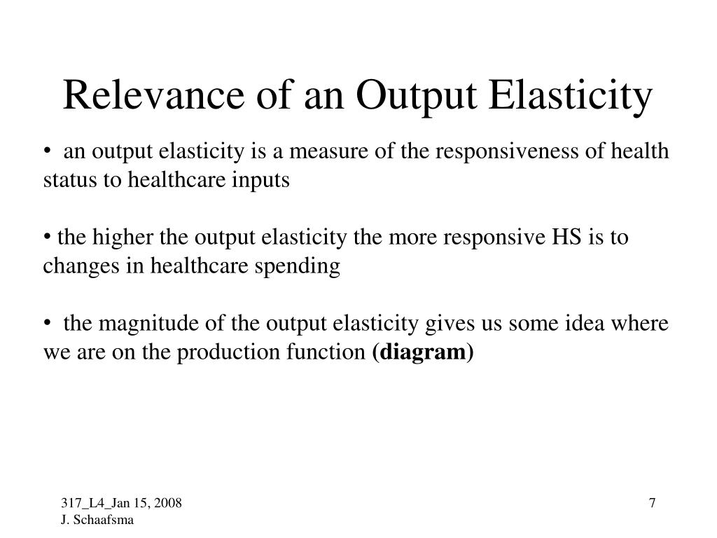 Relevance of an Output Elasticity