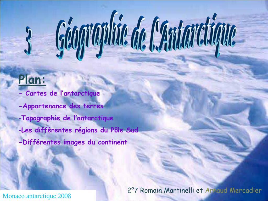 3      Géographie de l'Antarctique