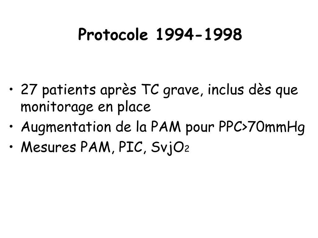 Protocole 1994-1998