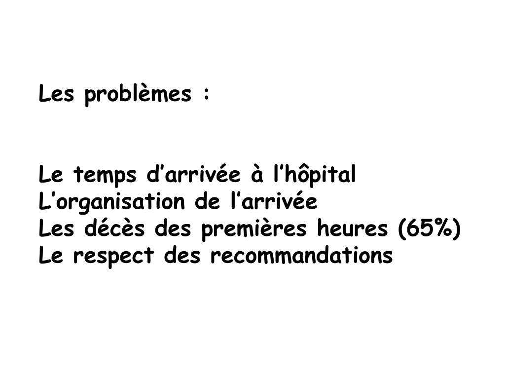 Les problèmes :
