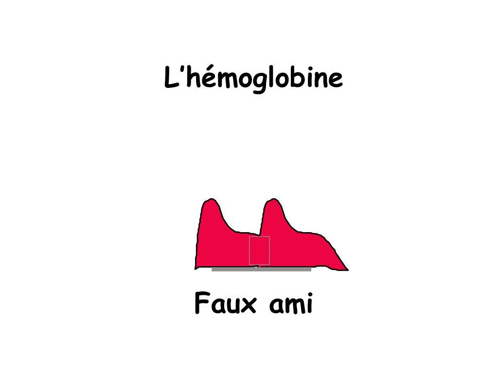 L'hémoglobine