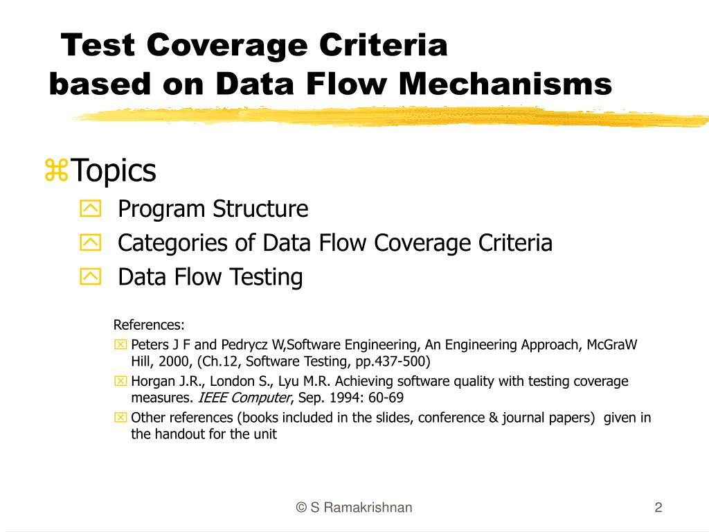 Test Coverage Criteria