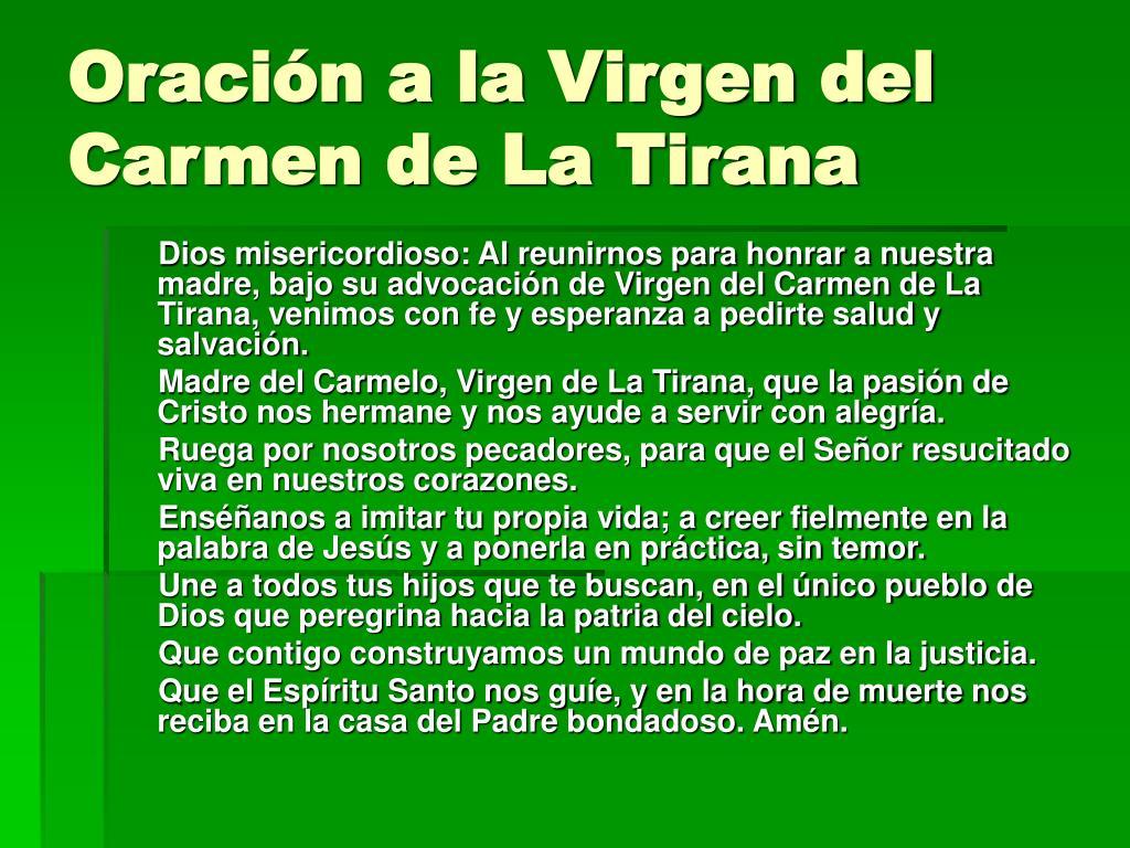 Oración a la Virgen del Carmen de La Tirana