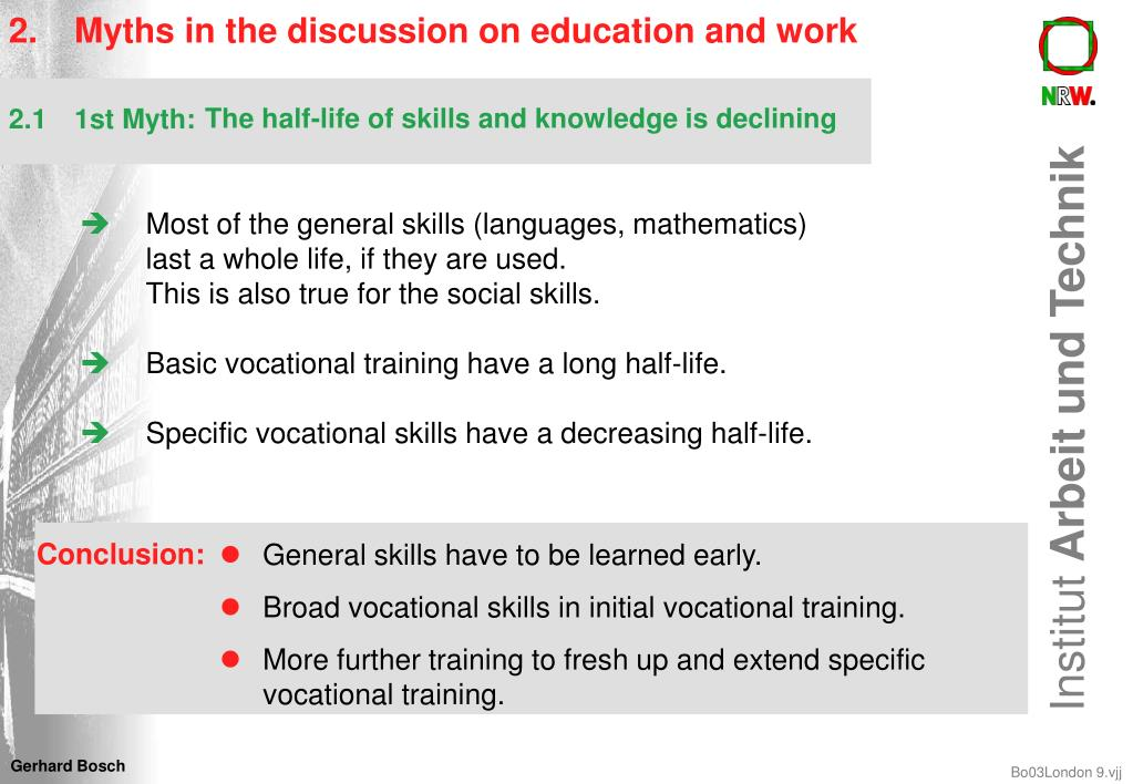 2.Myths in the discussion on education and work
