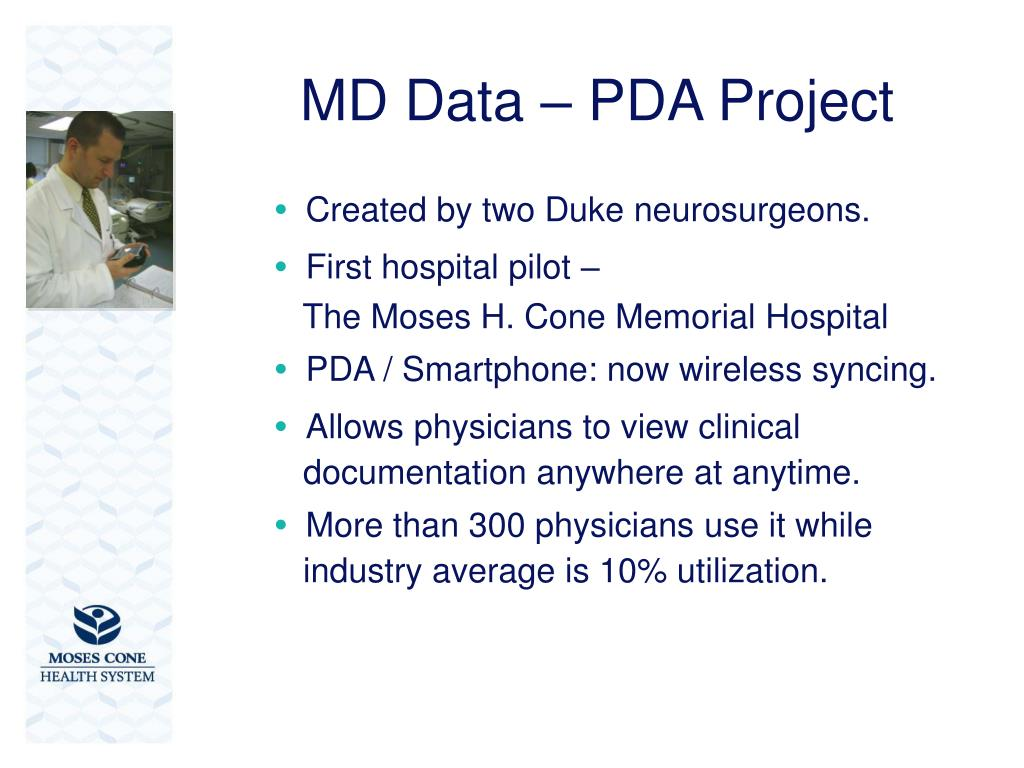 MD Data – PDA Project