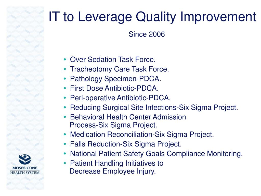 IT to Leverage Quality Improvement