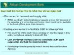 current constraints to ssc for development
