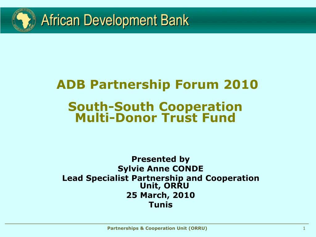 ADB Partnership Forum 2010