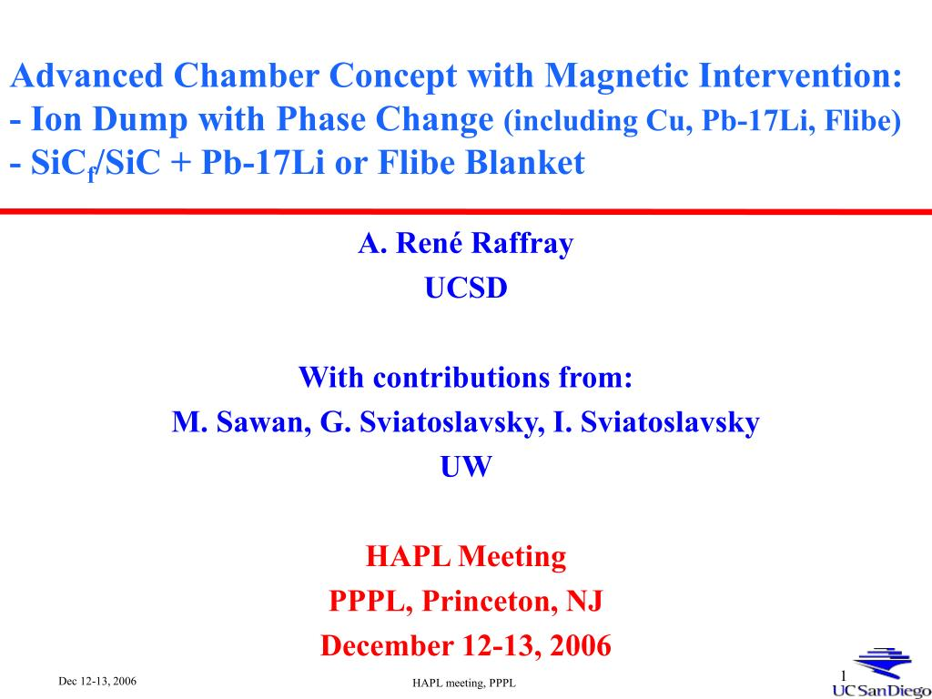 Advanced Chamber Concept with Magnetic Intervention: