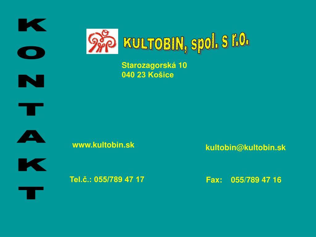 KULTOBIN, spol. s r.o.