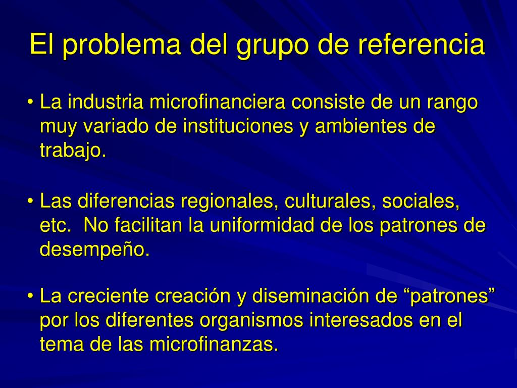 El problema del grupo de referencia