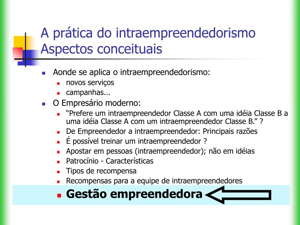 A prática do intraempreendedorismo
