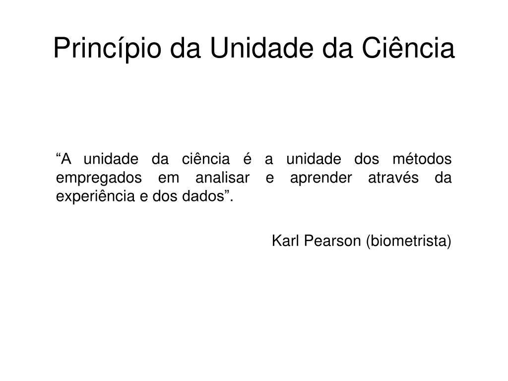 Princípio da Unidade da Ciência