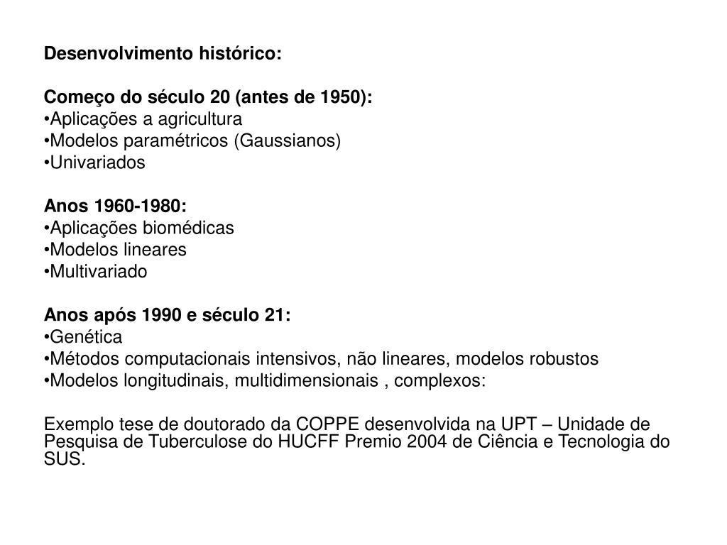 Desenvolvimento histórico: