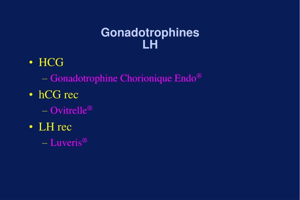 Gonadotrophines LH