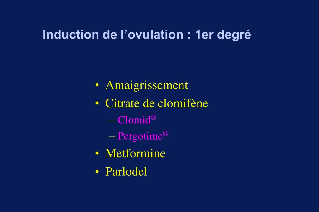 Induction de l'ovulation : 1er degré