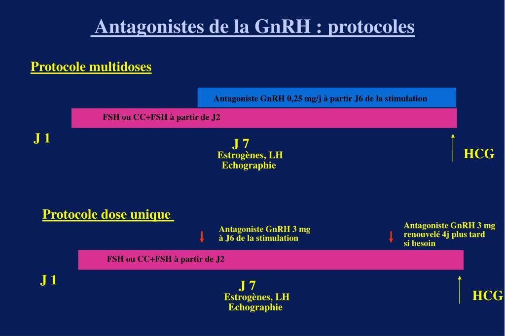 Antagonistes de la GnRH : protocoles