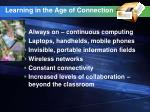 learning in the age of connection