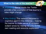 what is the role of the teacher47
