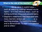 what is the role of the teacher48