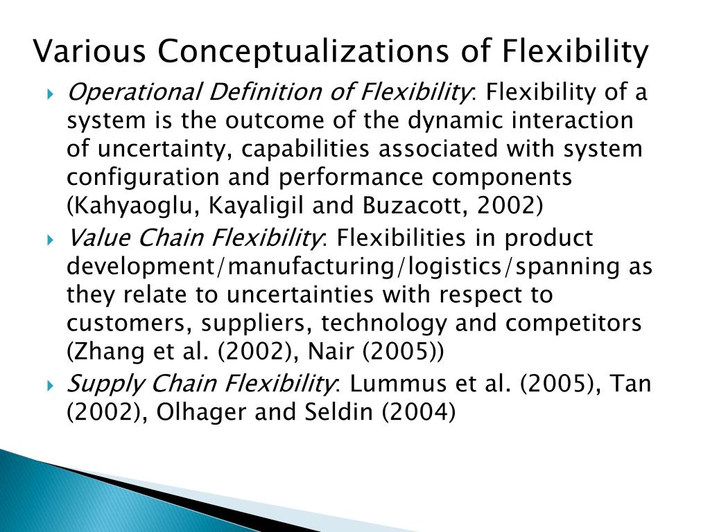 Various Conceptualizations of Flexibility