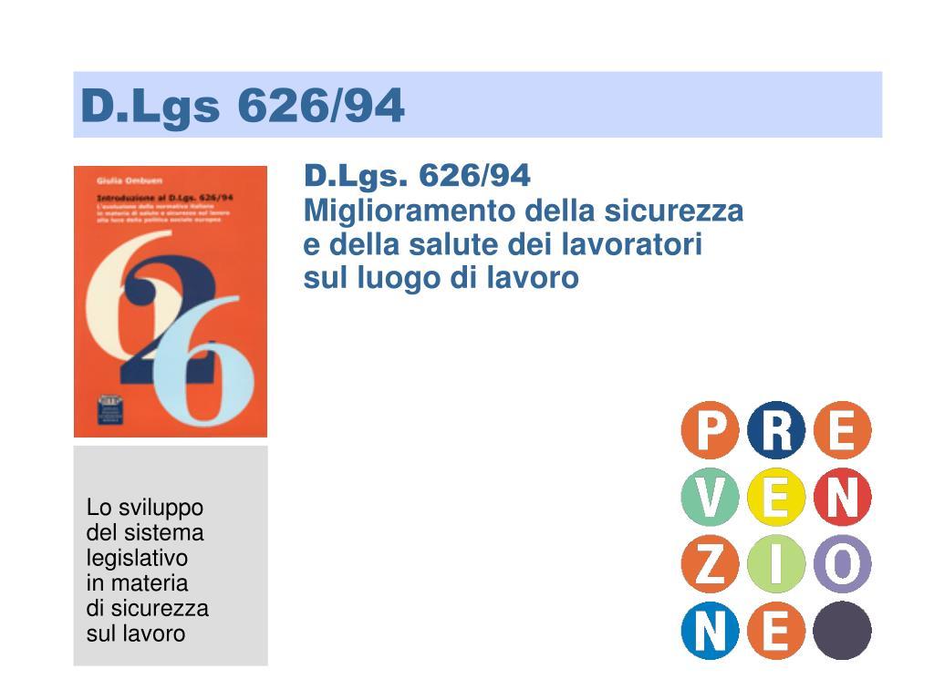 D.Lgs 626/94