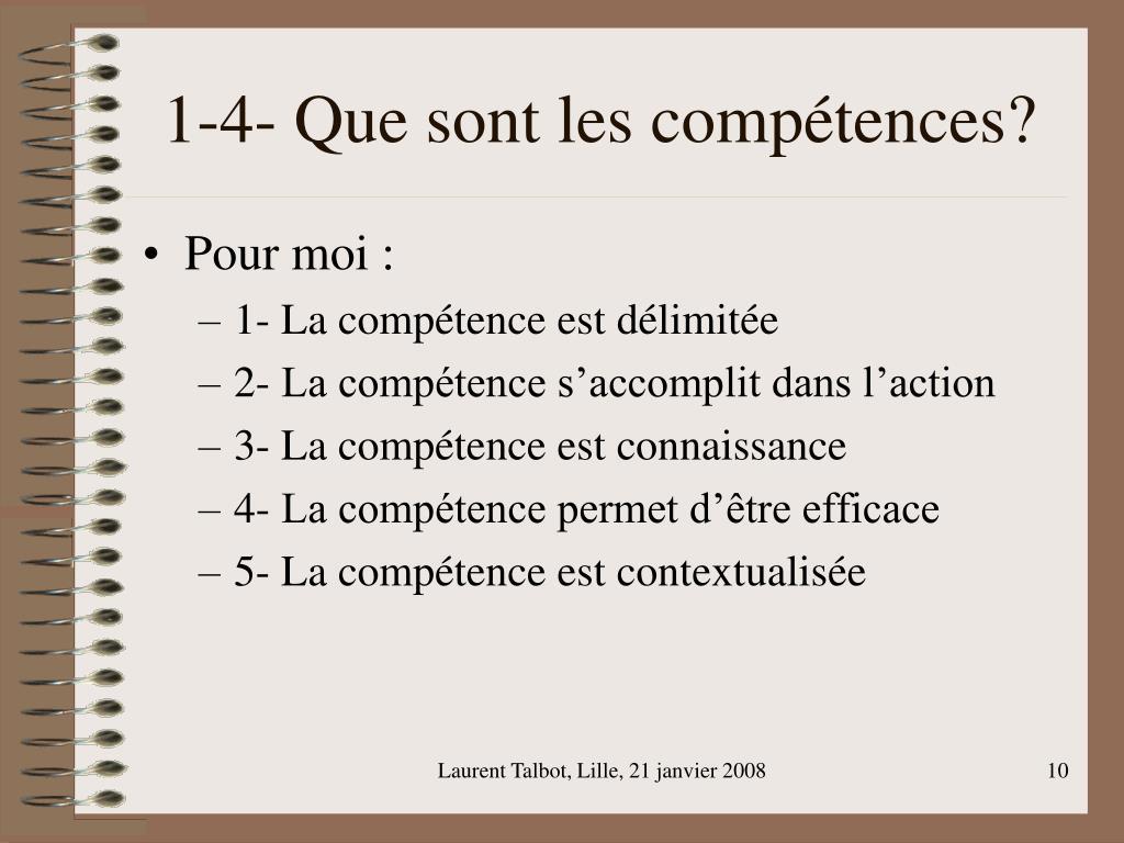 1-4- Que sont les compétences?