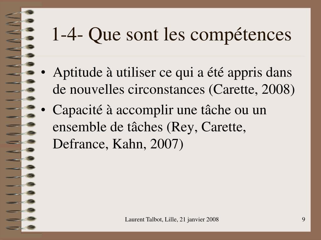 1-4- Que sont les compétences