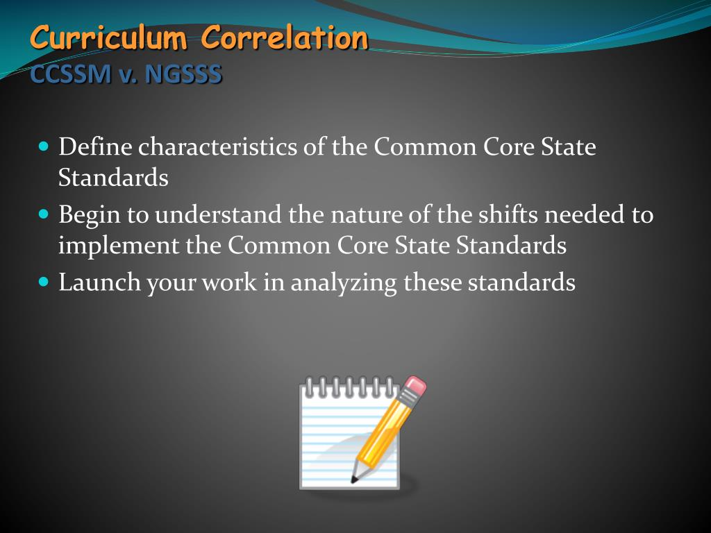 Curriculum Correlation