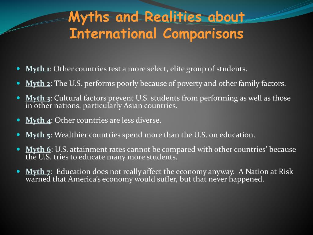 Myths and Realities about