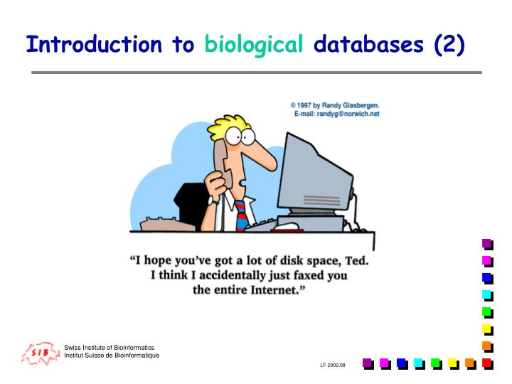 Introduction to biological databases 2