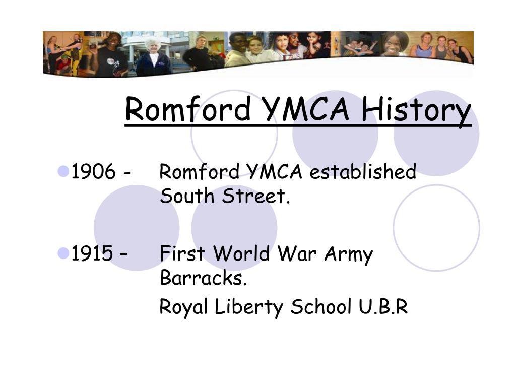Romford YMCA History