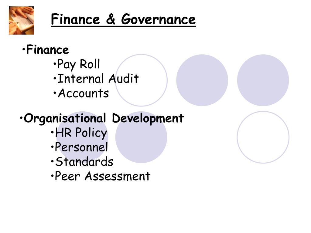 Finance & Governance