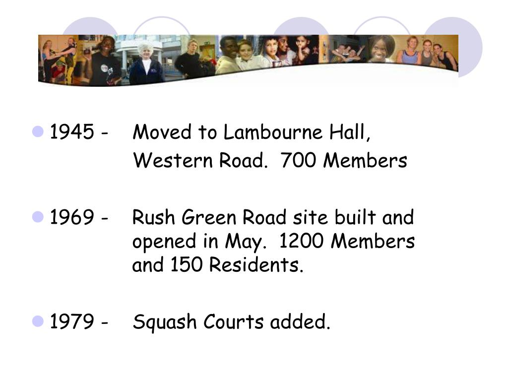 1945 -	Moved to Lambourne Hall,