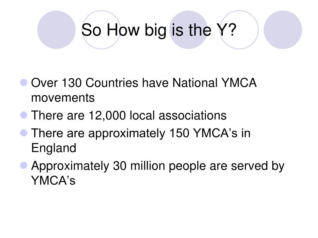 So How big is the Y?