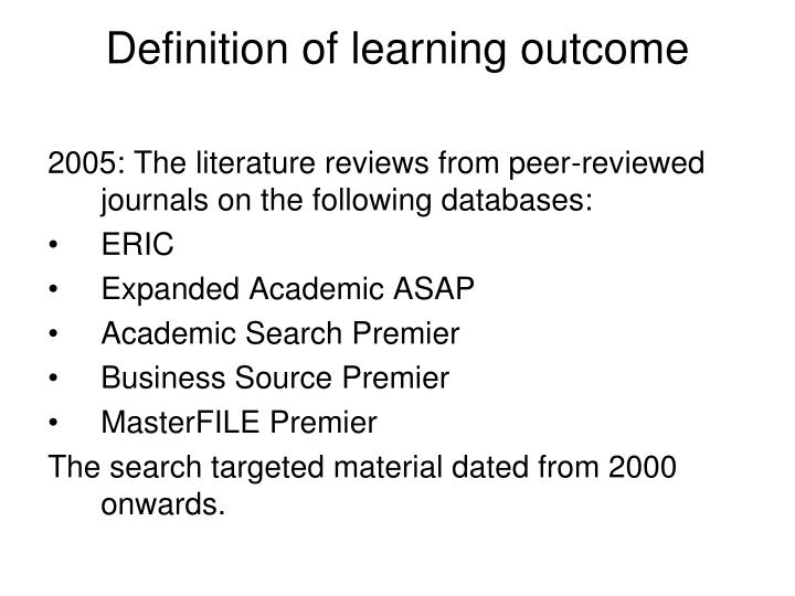 Definition of learning outcome l.jpg
