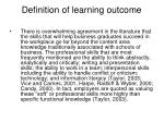 definition of learning outcome4