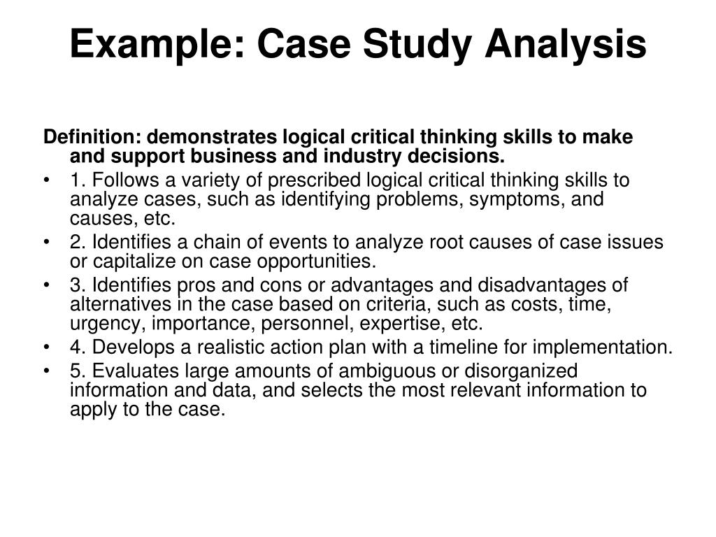 Example: Case Study Analysis