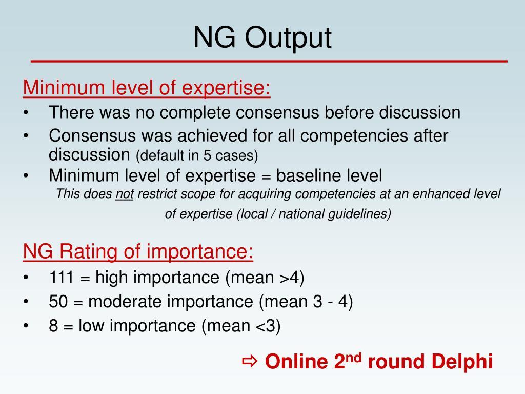 NG Output