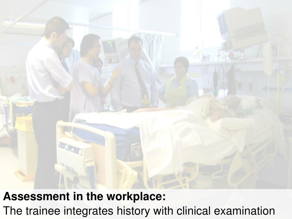 Assessment in the workplace: