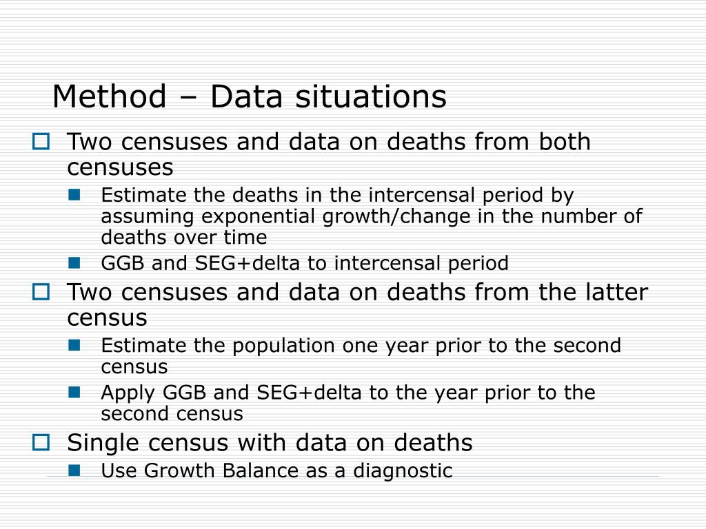 Method – Data situations
