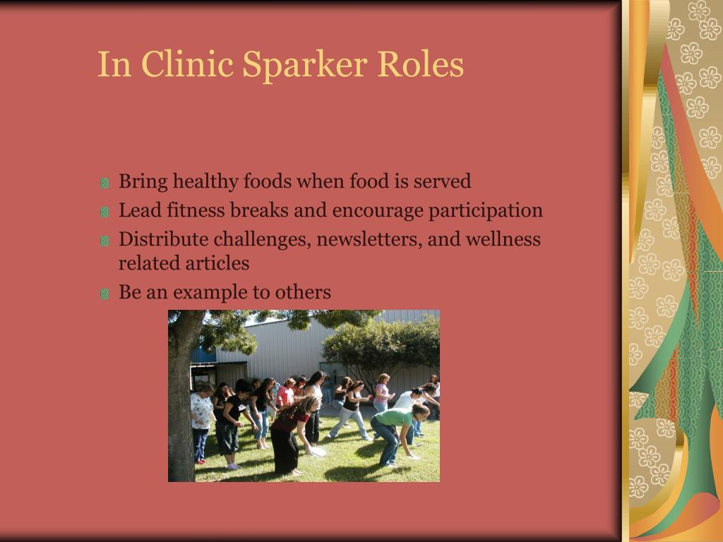 In Clinic Sparker Roles