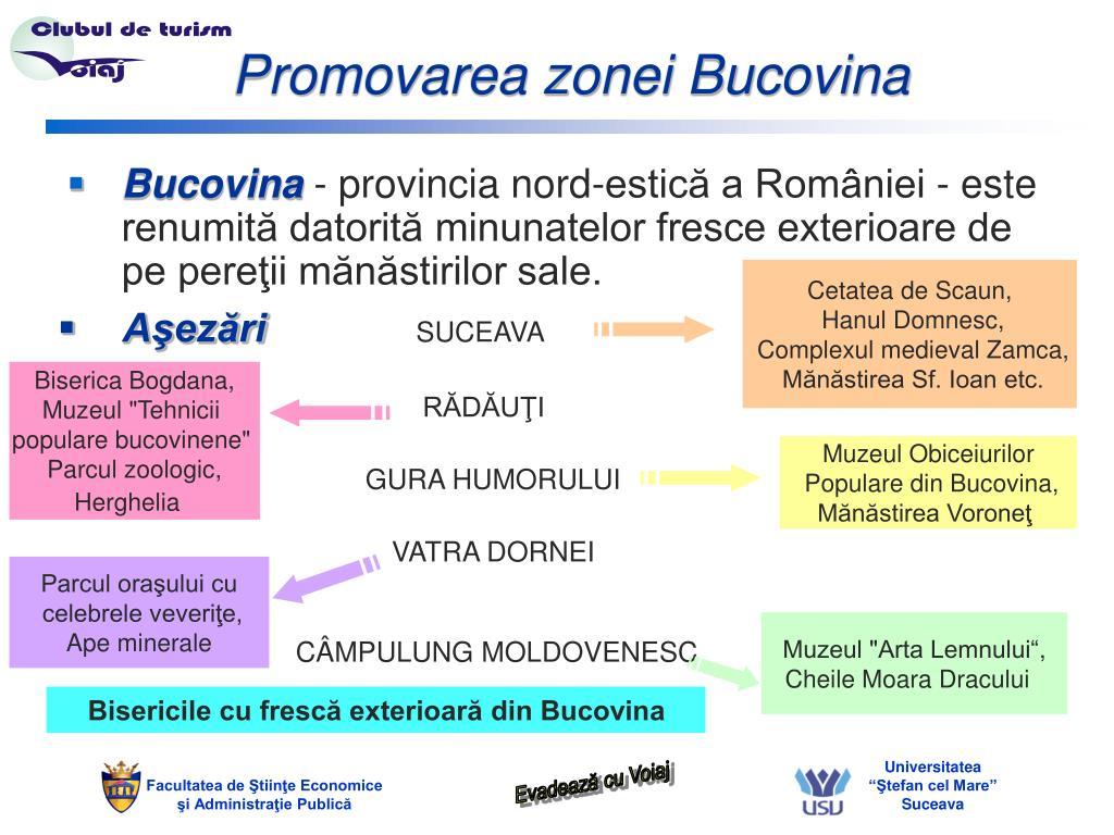 Promovarea zonei Bucovina