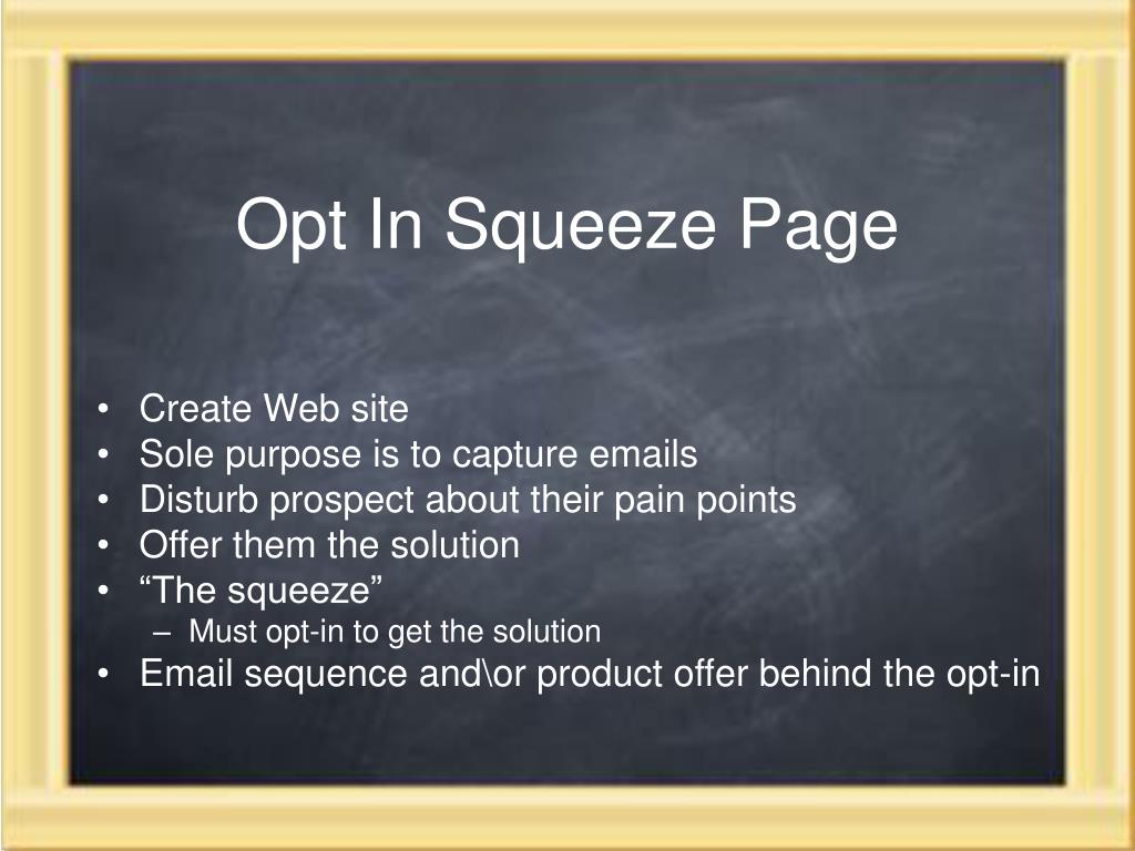 Opt In Squeeze Page