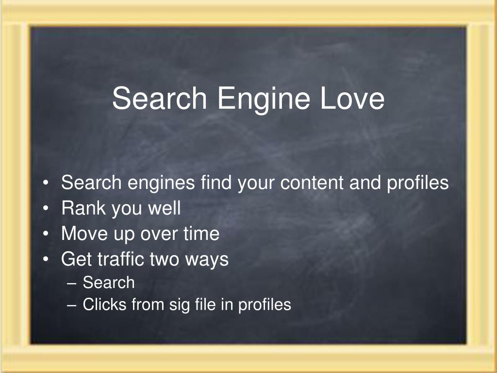 Search Engine Love