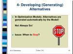 4 developing generating alternatives