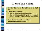 a normative models