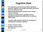 cognitive style
